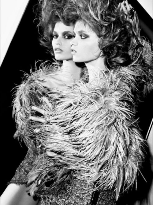via tumblr: Beauty Photography, Fabulous Feathers, Feathers Fashion, Fashion Editorials, Fashion Photography, Fashion Magazines, Abbey Lee Kershaw, Fashion Chartreusegreen Yellow