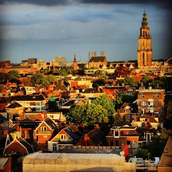 View from Watertoren Noord - Groningen, The Netherlands  [ De Bovenkamer van Groningen ]