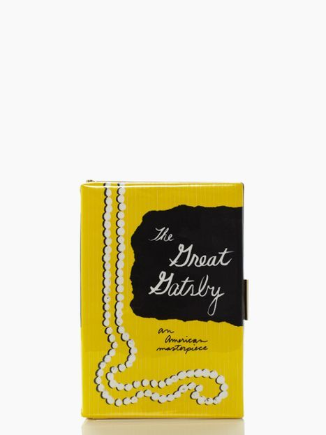 the great gatsby book clutch by kate spade