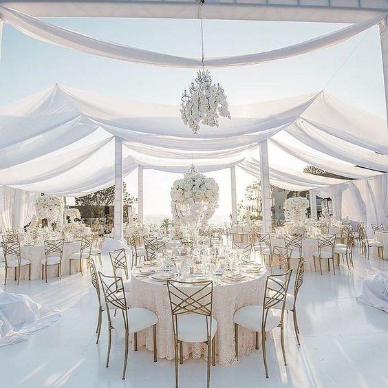 beyaz temalı düğün