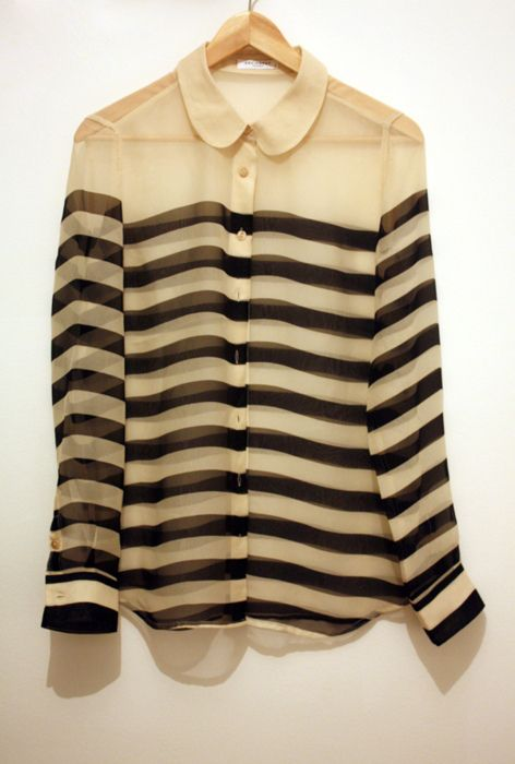 Sheer stripes - would look awesome reversed. Black sheer with cream stripes (or some other color).