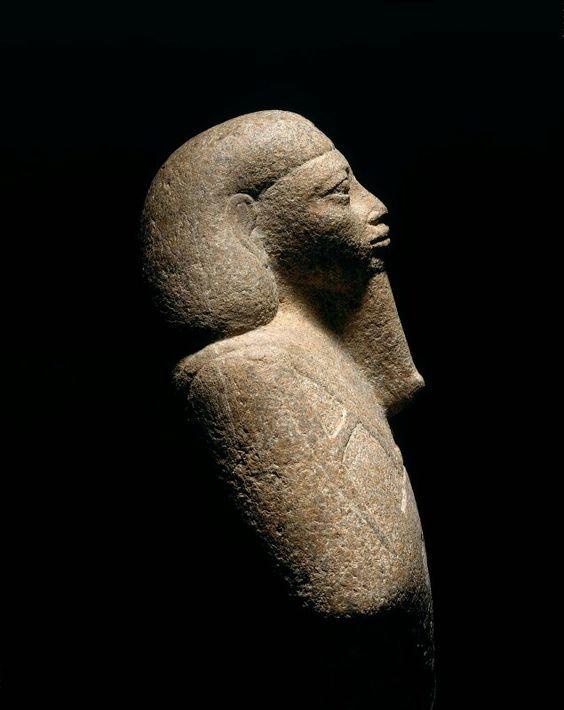 Colossal green magnesite-containing rock shawabty of King Taharqa. Nubian. Napatan Period. Reign of Taharqa. 690–664 B.C. | Museum of Fine Arts, Boston