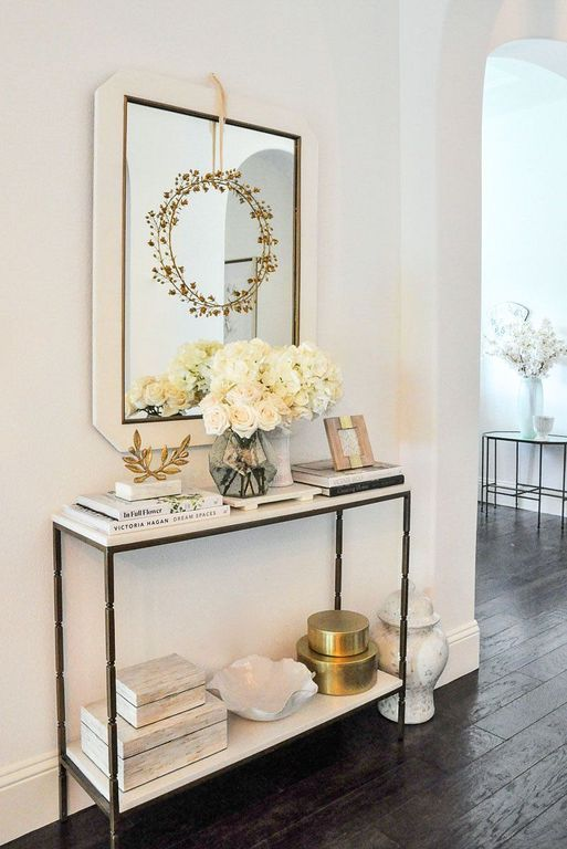 40 Small Console Table Design And Decor Ideas For Hallway White