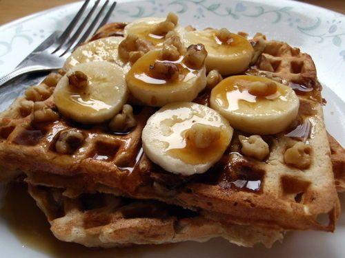 Wonderful Banana Bread Waffles With Cinnamon Butter