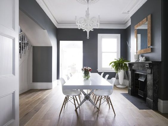 murs gris moulures plafond blanc salon pinterest. Black Bedroom Furniture Sets. Home Design Ideas