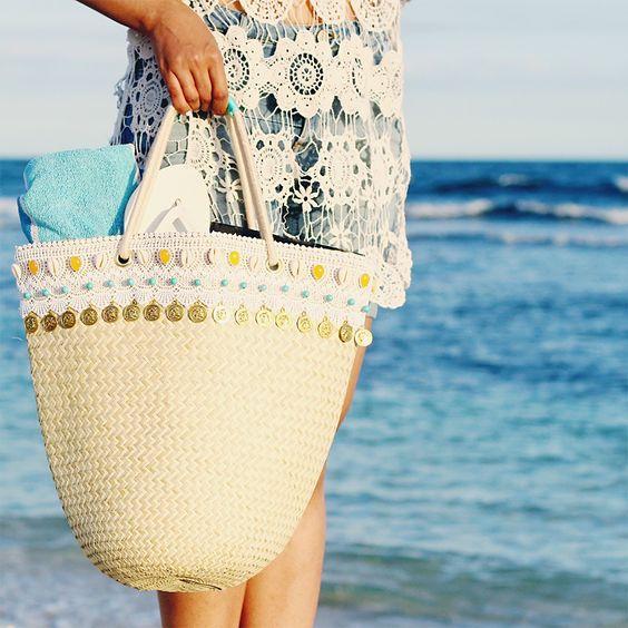 Beach Bag Gold Coins