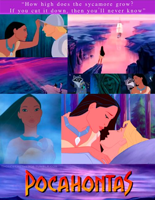 Pocahontas. Wow- so many memories with this! I loved it when I was a kid and rewatching it now, so many things come back to me. Little parts and scenes that I remember, like the exact sound when the willow tree cracked one of her branches. :) I really enjoy it still. Gotta love animated Disney songs that mimic huge production numbers from classic musicals! In this case it's the gold digging song. But you know, it's hard to truly feel threatened by a man wearing pigtails with bows on the…