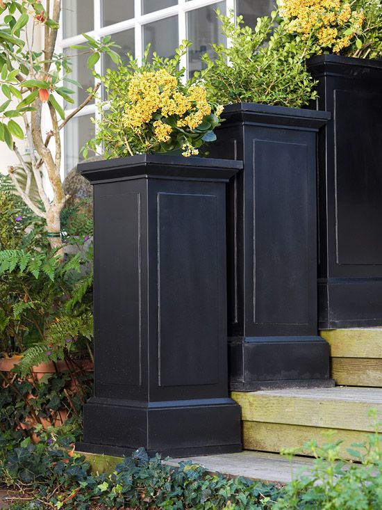 Tall planters home garden out doors pinterest planters unique and flower - Unusual planters for outdoors ...