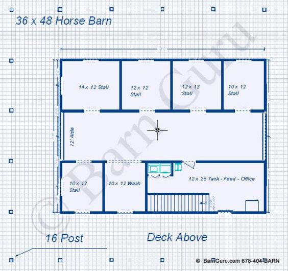 5 Stall Horse Barn With Living Quarters