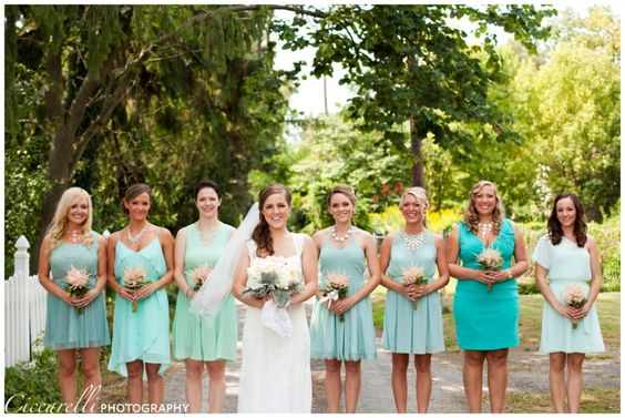 Mint Multi Colored Bridesmaid Dresses Wedding Www Ciccarelliphotoraphy Inspiration Ideas Pinterest And Perfect