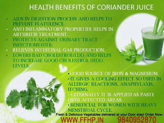 Health Benefits of Coriander Juice!