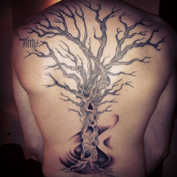 Back tree tattoo mabrey pinterest trees tree for Tree back tattoo