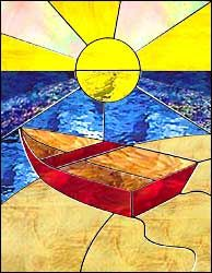 Boat Free Pattern - Alpine Stained Glass and Door