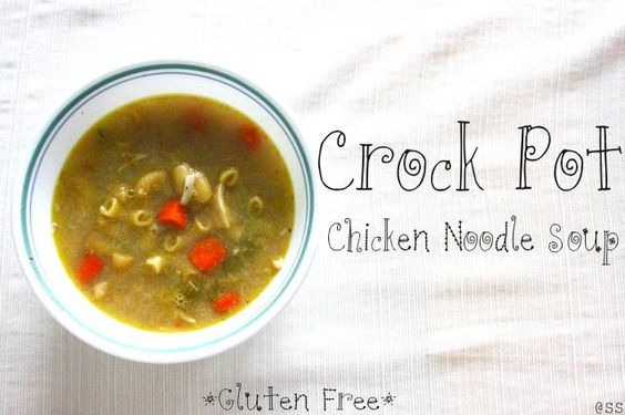 Crock Pot Chicken Noodle Soup *Gluten Free*