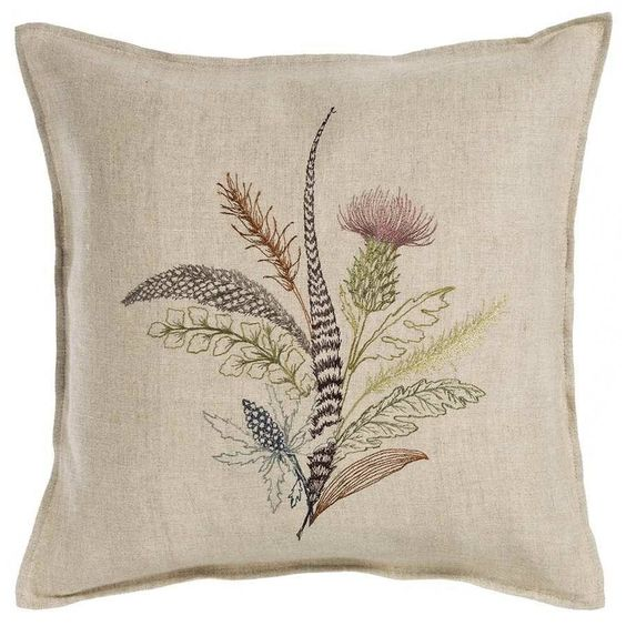 Thistle Pillow   Coral and Tusk