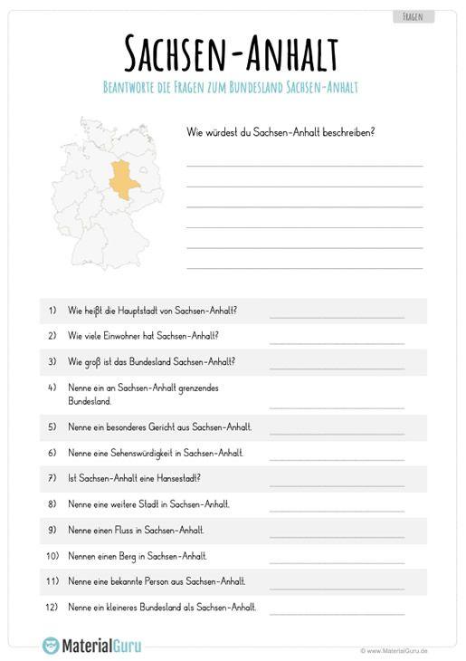 Sachsen Anhalt Materialguru Sachsen Anhalt Bundesland Und Sachsen