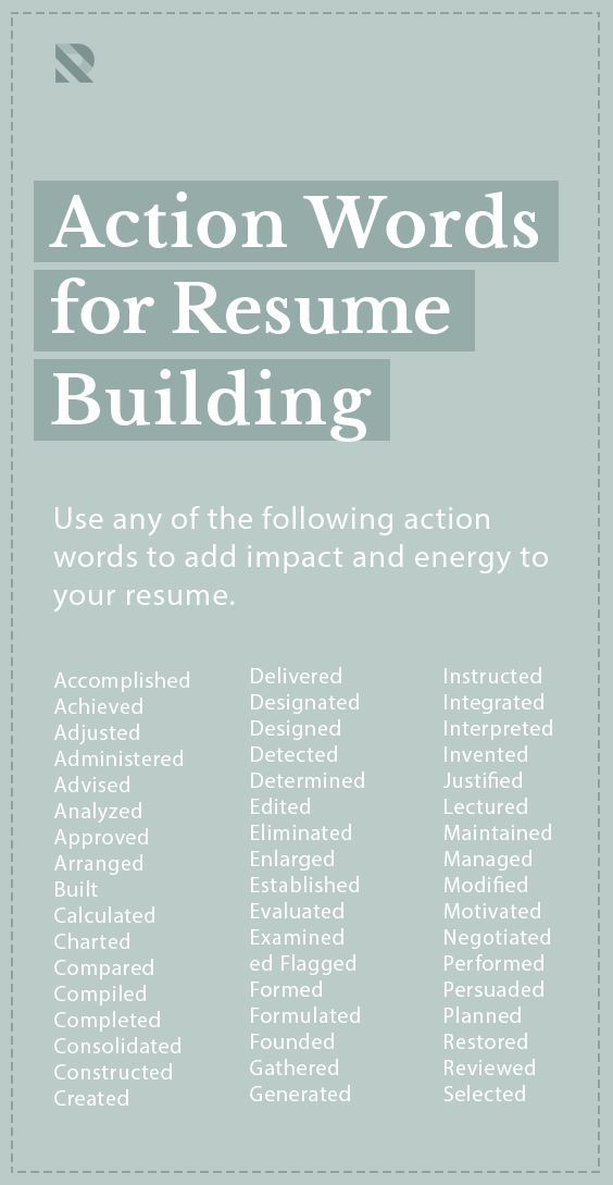 Action Words For Resume Building Resume Action Words Resume