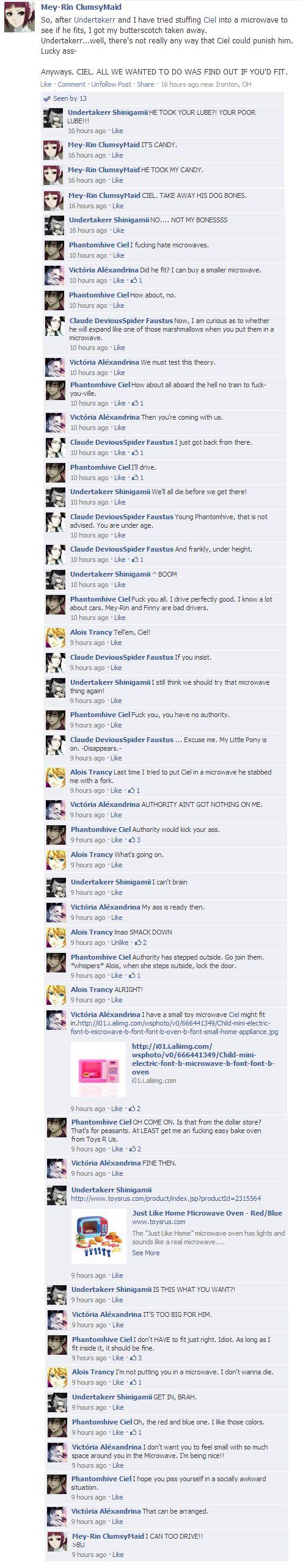 Black Butler Facebook. I...no... I just can't. Alois tho XD