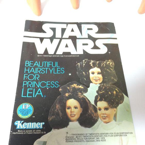 "Vintage 1978 Kenner Star Wars 12"" Figure Doll - 3 x Princess Leia & Booklet…"