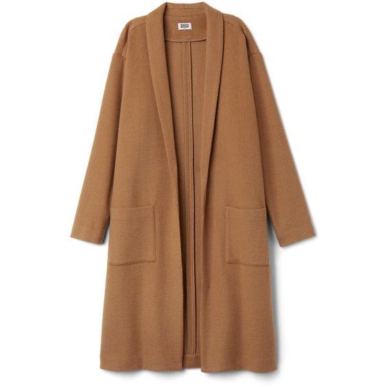 Grey Coat ❤ liked on Polyvore featuring outerwear, coats, jackets, coats & jackets, lightweight coat, leather-sleeve coats, grey coat and gray coat