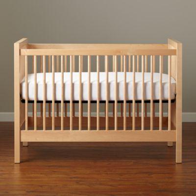 Natural wood crib. Land of nod.