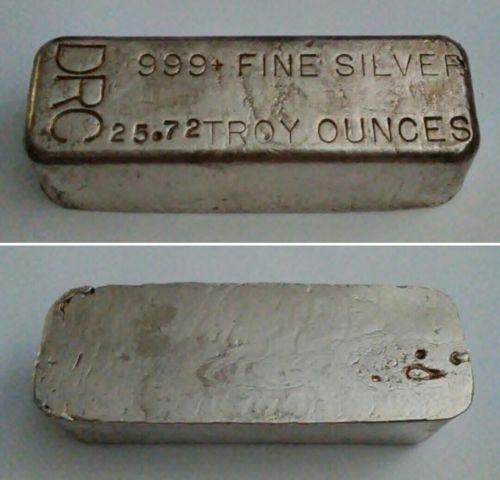 Drc Drew Refining Co 1st Gen 999 Silver Bar Odd Weight Rough Pour 25 Oz Silver Bars Silver Investing Silver