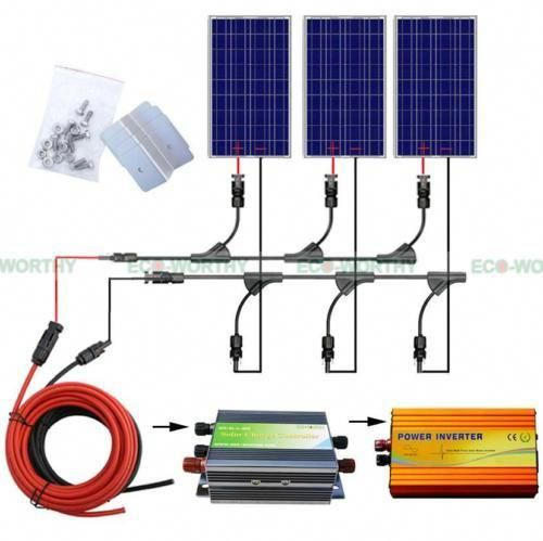 300w Solar Kit 3 X 100w Solar Panel With 1000w Pure Sine Wave Inverter 12v Home Solarpanels Solaren In 2020 Rv Solar Panels Solar Energy Panels Solar Panels For Home