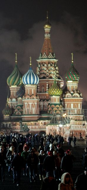 St Basil's Cathedral in Red Square, Moscow.