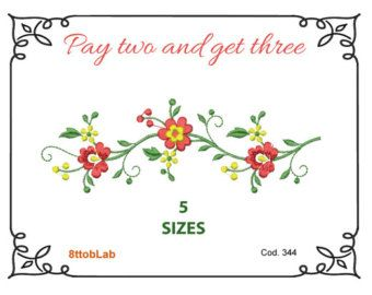 flowers embroidery pattern packet by KimberlyOuimet on Etsy
