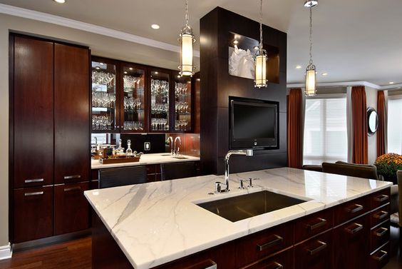 Dark Wood Kitchens Studios And Polished Nickel On Pinterest
