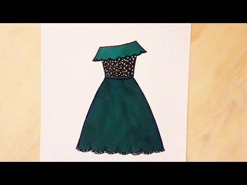 رسم فستان كيوت تصميم فستان سهل رسم كيوت رسم سهل How To Draw A Beautiful Dress Easy Youtube Halter Formal Dress Formal Dresses Fashion