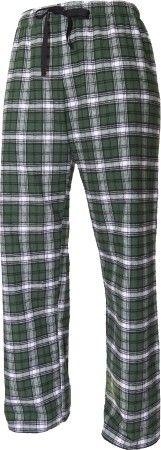 Merry  Christmas  Family Pajamas Hunter Green Flannel Pant