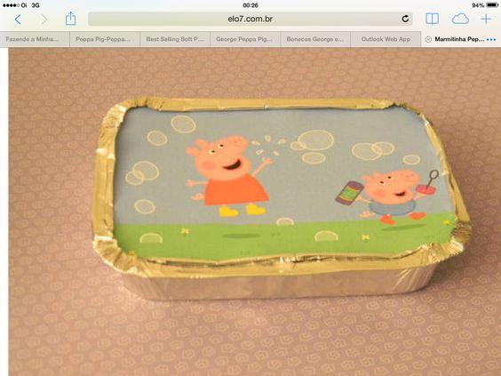 Marmitinha Peppa Pig  www.elo7.com.br