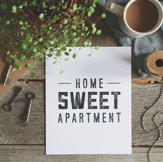 Home Sweet Apartment 5 x 7 or 8 x 10 Art Print | Home Decor