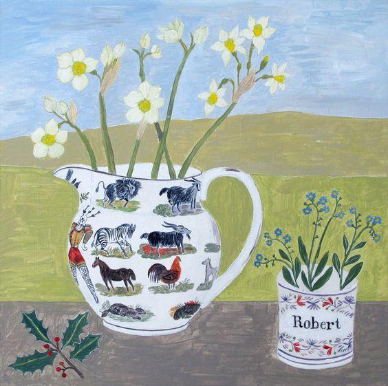 Debbie George, Painter: Sunderland ware jug commission