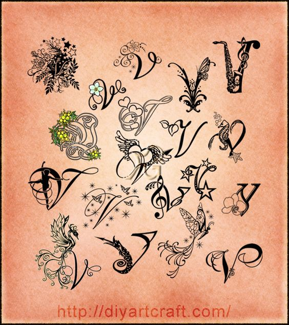 lettering #V #typography | Tattoos | Pinterest ...