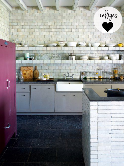 like the grey cabinetry but also the Zelliges tiles. saw those on another project and loved them but not sure of cost.