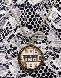 Vintage Street Market ~ Bingo Necklace