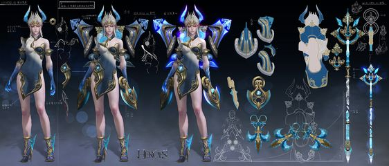 ArtStation - THE AGE OF HEROES-Ursula, weichi chen