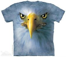 Eagle Big Face The Mountain Adult T-Shirt S-3XL Graphic Tee Animal
