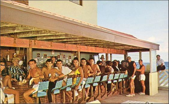 Castaways Bar ~ Miami Beach 1963