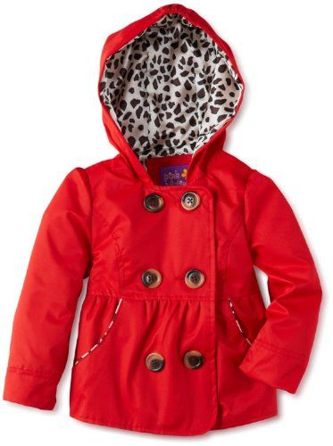 Pink Platinum Toddler Girls 4-6X Spring Red Emma Raincoat/Jacket