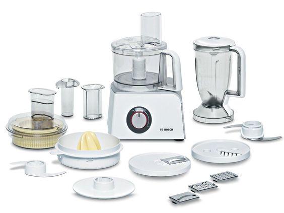 Bosch MUM52120 wit, zwart, transparant, roestvrijstaal Food - bosch mum küchenmaschine