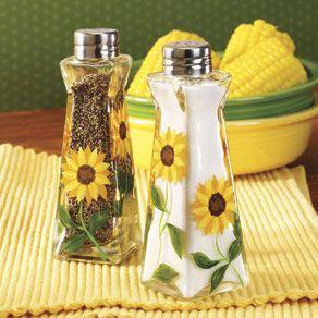 Sunflower Salt & Pepper Shakers - Table Top & Entertaining - Kitchen…