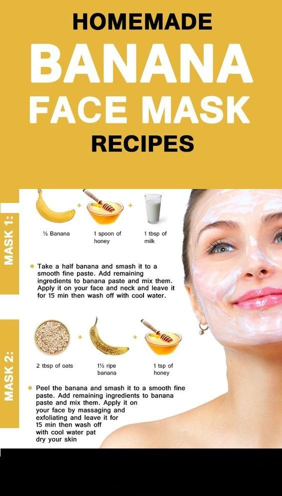 Simple And Natural Banana Face Pack For Glowing Skin Banana Face Mask Skin Face Mask Face Mask Recipe