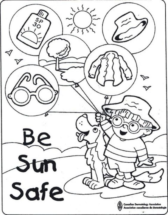 sunsmart coloring pages - photo#28