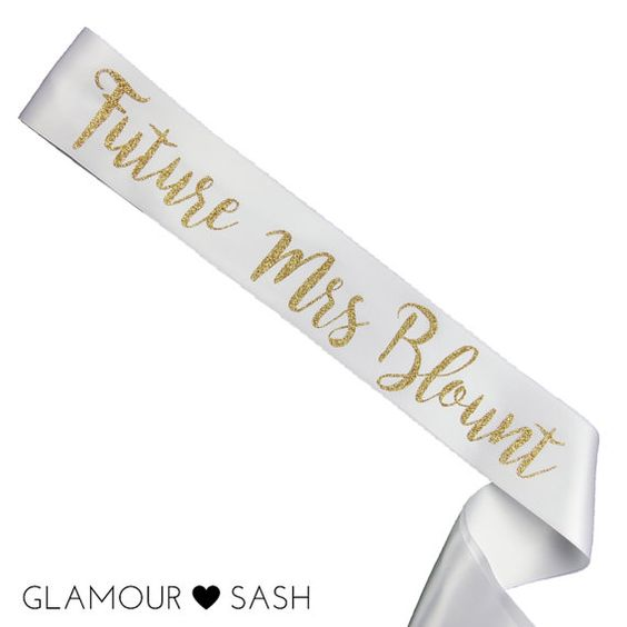 This gorgeous, custom bachelorette Future Mrs sash is made from silky, double…