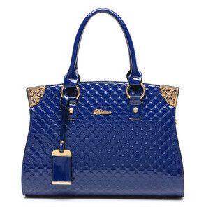 Women's Solid Luxury Top Handle Trunk Bags