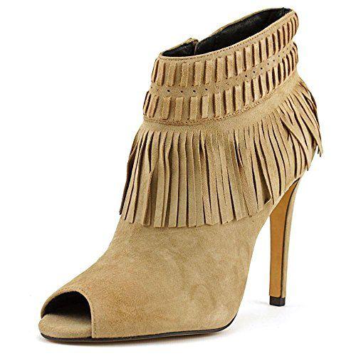 REBECCA MINKOFF Rebecca Minkoff Rio Fringe Peep Toe Suede Bootie. #rebeccaminkoff #shoes #shoes