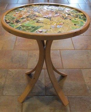 unique pedestal table by Marguerite, $800.00